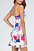 Spaghetti Strap  Backless  Printed  Sleeveless Bodycon Dresses