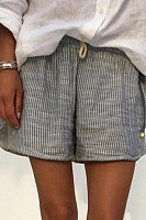 Fashion pinstripe shorts