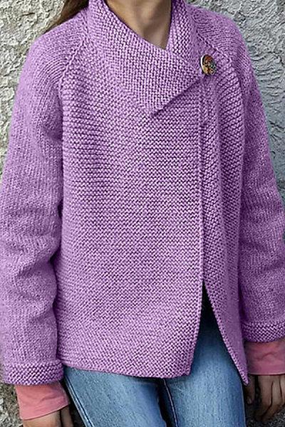 Casual Pure Color Single Button Coat