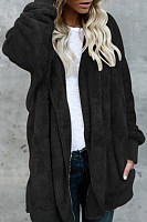 Casual Warm Plush Mid-Length Coat