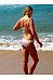 Spaghetti Strap  Asymmetric Stripe Bikini