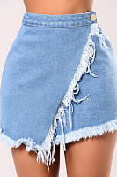 Single Button  Plain Skirts