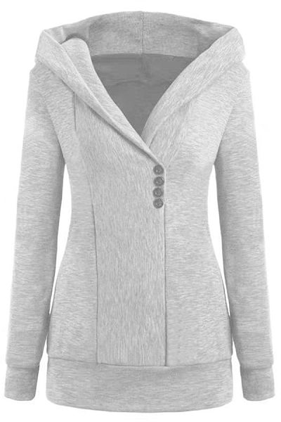 Fashion Long Sleeve Hooded Coat
