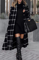 Snap Front  Plaid Outerwear