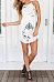 Spaghetti Strap  Asymmetric Hem  Floral Printed  Sleeveless Casual Dresses
