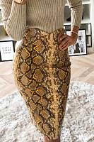 Animal Printed  Basic  Skirts
