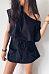 One Shoulder  Slit Pocket  Belt  Plain  Short Sleeve Casual Dresses