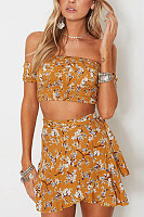 Backless  Printed Two-Piece Outfits