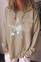 Casual printed hooded long sleeve hoody