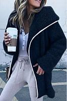 Hooded  Plain Basic Outerwear