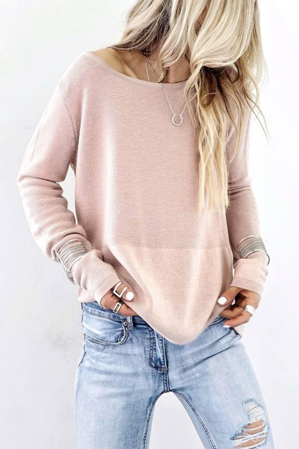 Long Sleeve Boho Loose T-shirt