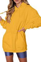 Hooded  Plain Warm Outerwear