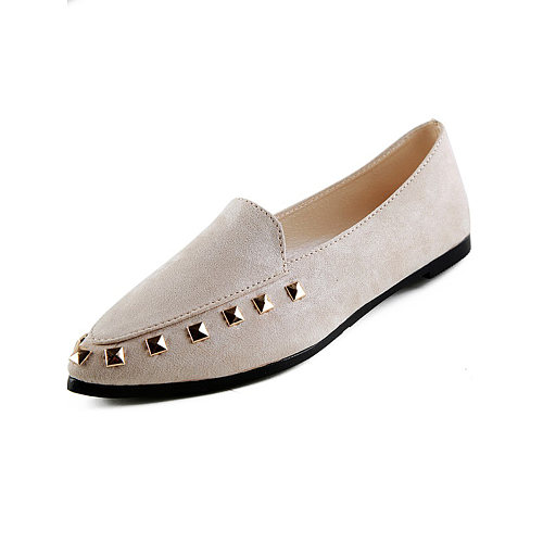Plain Faux Leather Flat