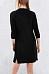 V Neck Side Slit Three Quarter Sleeve Casual Dress