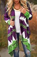 Women Knit Brocade Casual Outerwear