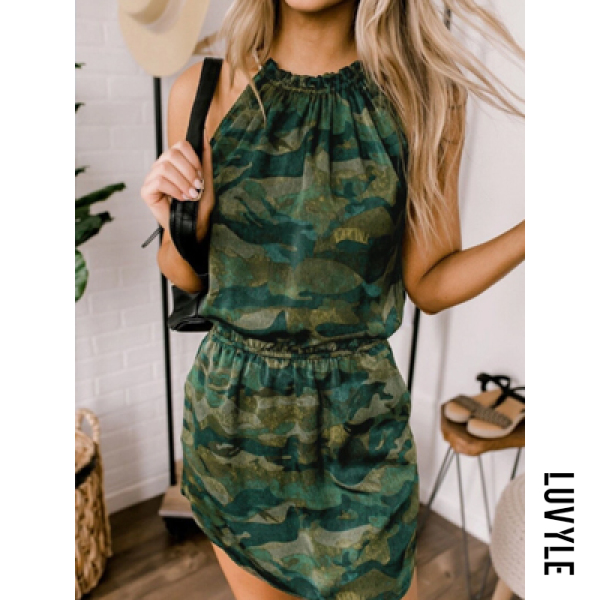 Camouflage Women Camouflage Casual Dresses Camouflage Women Camouflage Casual Dresses