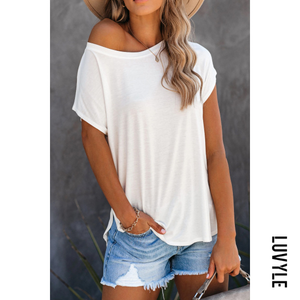 Women Sexy Solid Color T-shirt