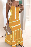 Sling Colouring Striped Maxi Dress