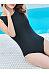 Round Neck  Backless  Plain One Piece