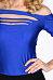 Open Shoulder Round Neck  Hollow Out Plain T-Shirts