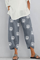 Casual Floral Printed Pants