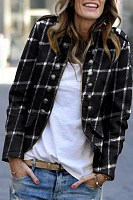 Band Collar  Checkered Blazers