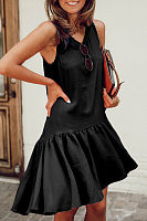 Bubble Tiered Casual Dresses