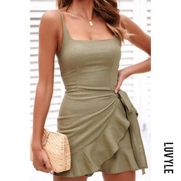 Green Spaghetti Strap Plain Sleeveless Bodycon Dresses Green Spaghetti Strap Plain Sleeveless Bodycon Dresses