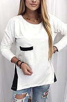 Women's casual round neck T-shirt