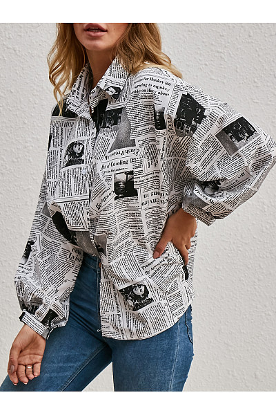 Fashion Letter Print Shirt
