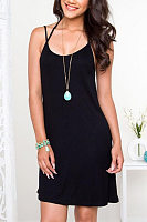 Spaghetti Strap Shift Sleeveless Casual Dresses
