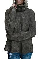 Turtle Neck  Plain Warm Sweaters