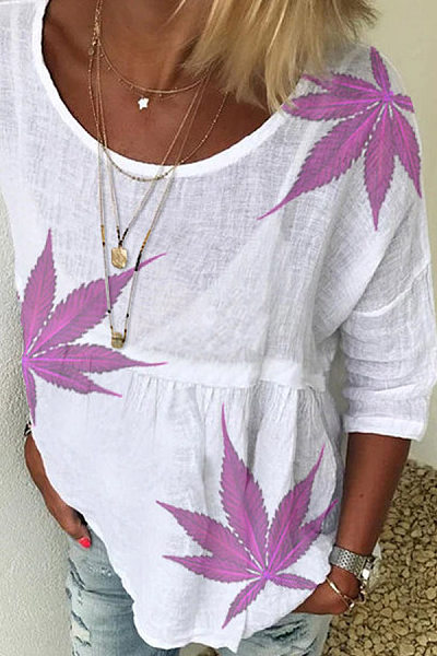 Maple Leaves Loose T-shirt
