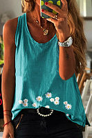 Daisy Printed Casual Vest