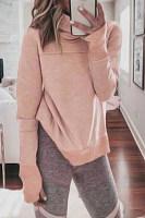 Fashion High Collar Long Sleeve Sweatshirt