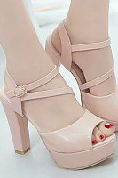High Heeled  Elegant Plain Heels