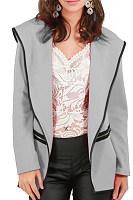 Lapel  Plain   Elegant  Jackets