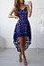 Lace Spaghetti Strap Curved Hem Sleeveless Skater Dress