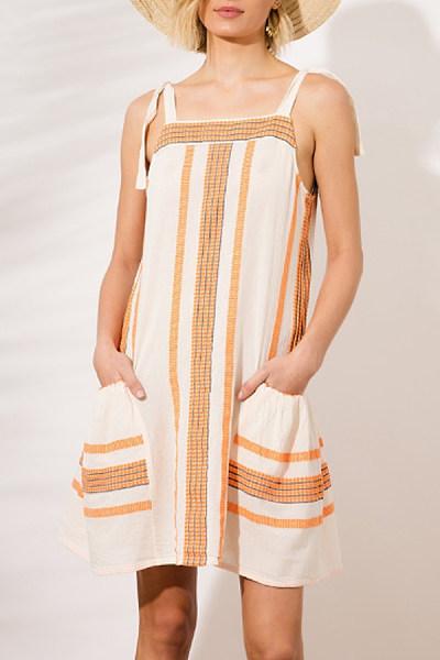 Spaghetti Strap  Striped Casual Dresses
