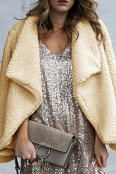 Casual Lapel Solid Color Outerwear