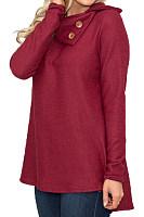 Fold Over Collar  Asymmetric Hem  Plain Sweaters