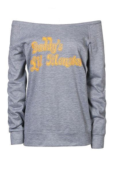 Patchwork  Letters Long Sleeve Sweatshirts