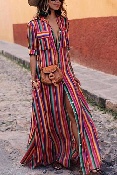 https://www.luvyle.com/button-down-collar-stripes-roll-up-sleeve-half-sleeve-maxi-dresses-p-37441.html