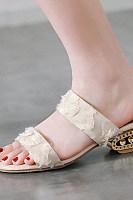 Plain  Chunky  Mid Heeled  Peep Toe  Date Sandals