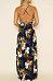 Spaghetti Strap  Backless  Floral Printed  Sleeveless Maxi Dresses