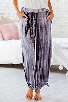 Casual loose tie-dye printed lantern pants