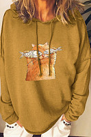 Casual Cartoon Printed Hoody