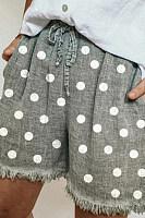 Polka dot printed shorts