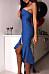 Strapless  Mermaid  Plain  Sleeveless Bodycon Dresses