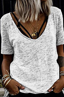 V Neck Casual T-Shirts